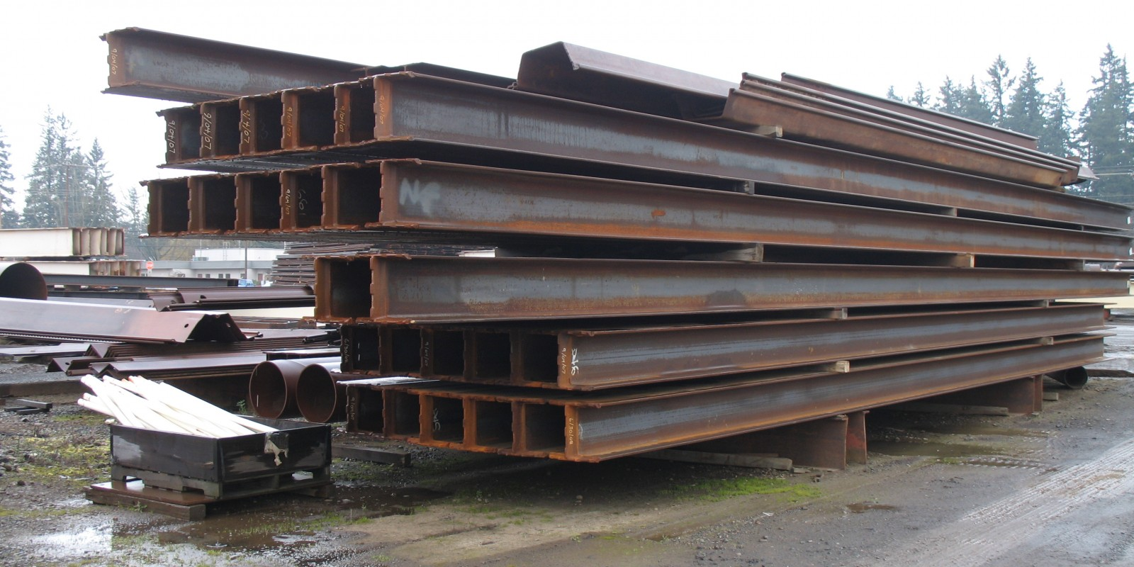 H-pile steel beams