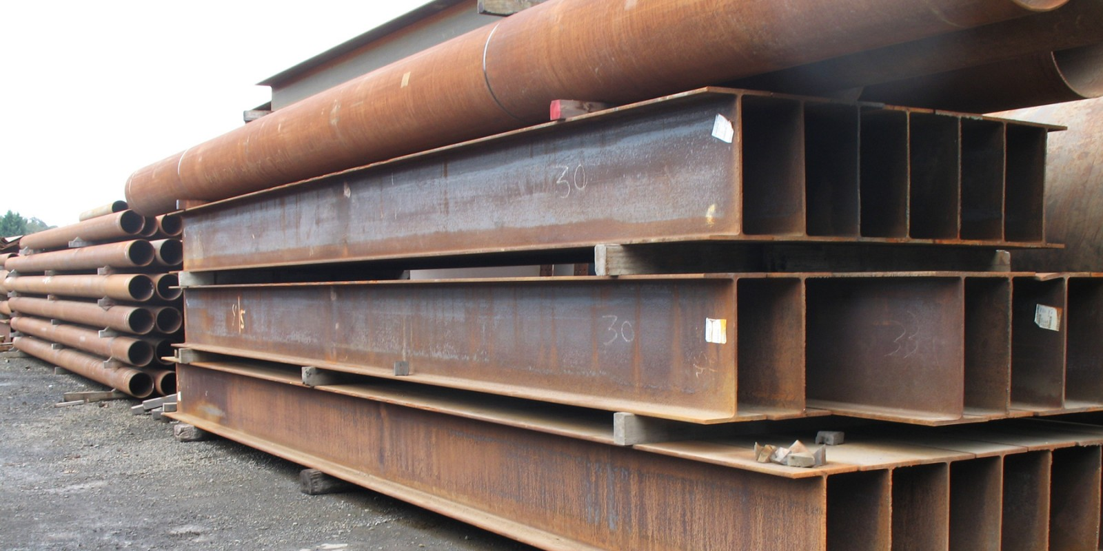 Foundation Equipment and Supply steel beams